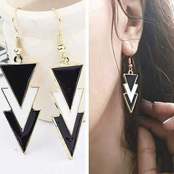 ES320 Triangle Long Drop Earrings Women Geometric Dangle Earring Fashion Jewelry Brincos oorbellen Simple Ear Jewelry Steampunk