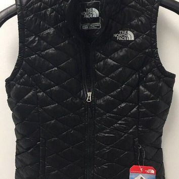 Women's North Face Thermoball Vest Urban TNF Black Size X Small S NWT