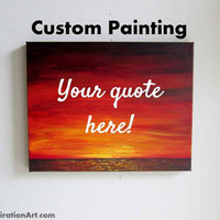 16x20 Canvas Custom Wall Hangings Personalized Wall Signs - Quotes for Walls Custom Home Decor - Custom Wall Quotes Unique Christmas Gifts
