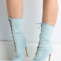 BAHLA STRETCH DENIM BOOTIE