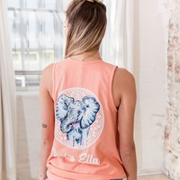 Ella Fit Desert Flower Sketchy Elephant Tank