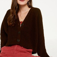 UO Cropped Button-Down Cardigan | Urban Outfitters