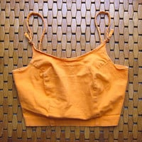 PEACH Sherbert 90s Cropped Top Bralette Tank Top Bra Top Bright Orange 80s Shirt Hipster Boho XS Small