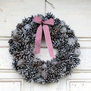 Pine Cones wreath, Christmas Wreath, Holiday wreath, woodland wreath, Christmas decor, Door wreath, xmas wreath, Christmas decorations