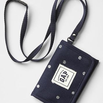 Gap Girls Tri Fold Printed String Wallet Size One Size