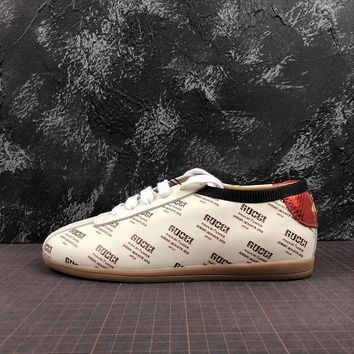 GUCCI Ace Embroidered Print Low Top Women's Sneake - Best Online Sale