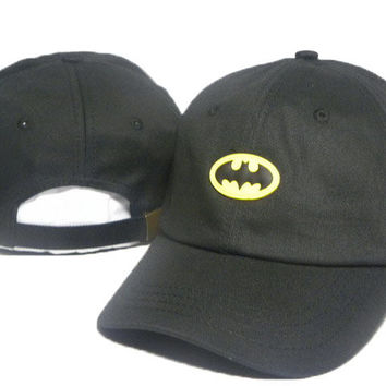 Black Batman Embroidered Baseball Cap Hat