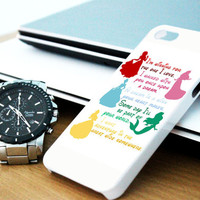 Disney Princesses Quotes iPhone 4/4S / 5/ 5s/ 5c case, Samsung Galaxy S3/ S4 case, iPod Touch 4 / 5 case