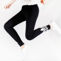 Adidas Women Fashion Black Running Leggings Sweatpants-2