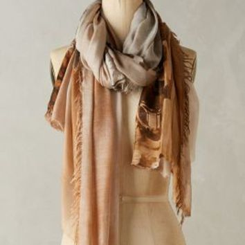 Suzi Roher Francophile Scarf in Brown Motif Size: One Size Scarves