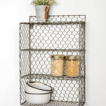 Chicken Wire Wall Cubbies