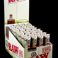 Raw Organic Rolling Paper Cones King Size - RP159