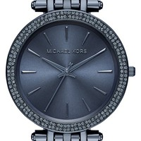 Women's Michael Kors 'Darci' Round Bracelet Watch, 39mm - Blue