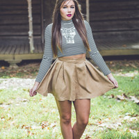 Crazy For You Skirt in Camel
