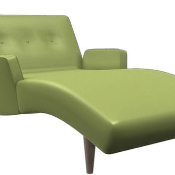 Olympic Tufted Leather Chaise Lounge by Lazar Industries