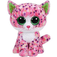 """TY Beanie Boos Sophie Pink Polka Dot Cat Small 6"""""""