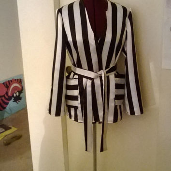 Black and White Dressing Gown
