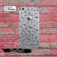 Geometric Black Line Art Tumblr Inspired Geo Clear Case For iPhone 6, iPhone 6 Plus +, iPhone 6s, iPhone 6s Plus +, iPhone 5/5s, iPhone 5c
