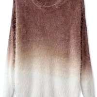 Ombre Chic Boucle Mohair Sweater - OASAP.com