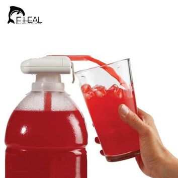 FHEAL Electric Automatic Juice Cocktail Water Dispenser with Drinking Straw Fruit Vegetable Kitchen Accessories for Party