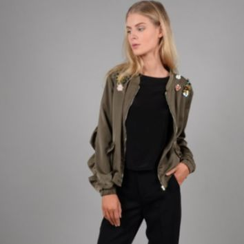 Molly Bracken Embroidered Ruffle Jacket