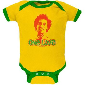 ICIK8UT Bob Marley One Love Yellow Baby One Piece