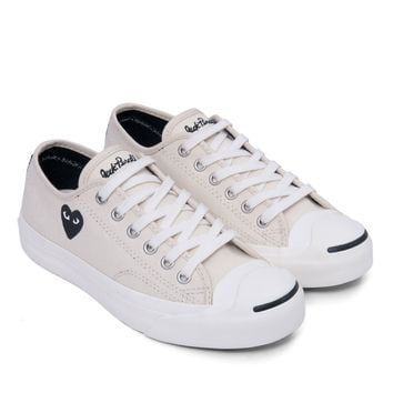 6aaedc71335ab9 CDG PLAY x Converse Jack Purcell (White) from DOVER STREET MARKET