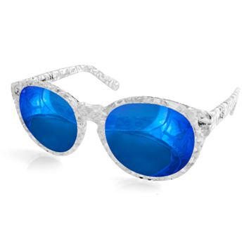 Aqs Women's Daisy Oval Keyhole Sunglasses | Bluefly