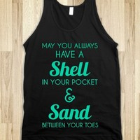 SHELL AND SAND - glamfoxx.com - Skreened T-shirts, Organic Shirts, Hoodies, Kids Tees, Baby One-Pieces and Tote Bags