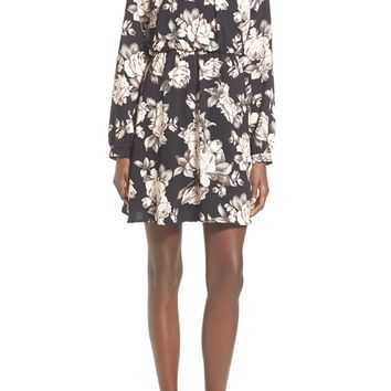 Sienna Sky Floral Print High Neck Dress | Nordstrom