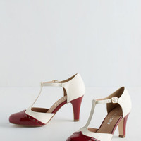 Menswear Inspired Vivacious Vibes Heel in Crimson