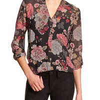 Factory Three Button Vee Top