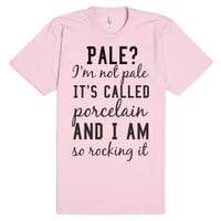 Porcelain-Unisex Light Pink T-Shirt