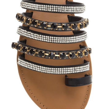 Crown Jewels Strappy Slide Sandals GoJane.com