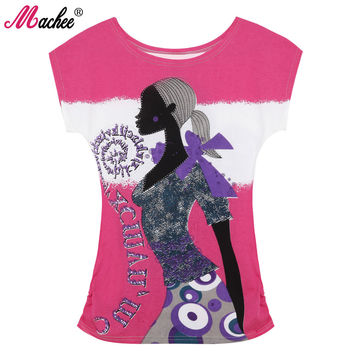 Top Selling Women Tshirt  Cotton Print Short Sleeve Loose Vintage Fashion Tee T-shirt for Woman's Girl Tops Female