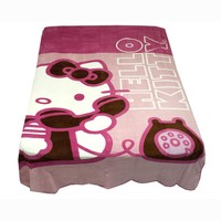 Hello Kitty Twin Blanket Ring Ring Telephone Bedding Cover