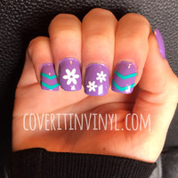 Flower Nail Decals - Set of 60