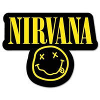 NIRVANA smiley rock band Vynil Car Sticker Decal - Select Size