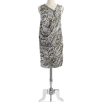 Dknyc Patterned Draped Dress