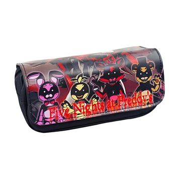 New Cartoon Pencil Pen Case  At Freddy`s /The Nightmare Before Christmas/Cosmetic Makeup Coin Pouch Zipper Bag