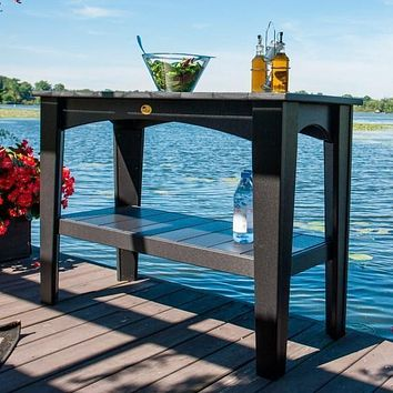 LuxCraft Recycled Plastic Island Buffet Table