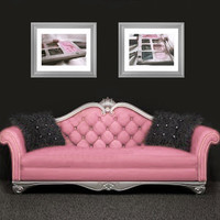 SET OF 2, Makeup Photographs, Bedroom, Salon or Boutique Decor, Pink and Gray Color Fine Art Photography 8x10 Wall Prints
