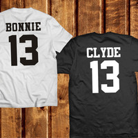 Bonnie and Clyde Shirts, Couples Shirts Bonnie and Clyde 13 Matching Tees Set