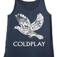 TFM Men's Coldplay Bird Rock Tank Top M White