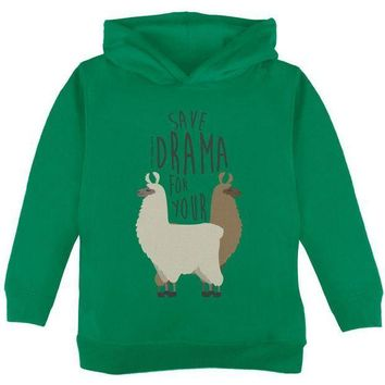 CREYCY8 Save the Drama for Your Llama Pun Toddler Hoodie