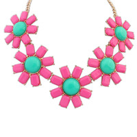 New Arrival Jewelry Stylish Shiny Gift Bohemia Floral Necklace [4918878916]