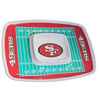 San Francisco 49ers NFL Chip & Dip Tray