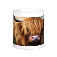Highland Cow Painting Coffee Mugs from Zazzle.com