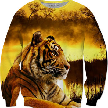 Tiger and Sunset Sweatshirt