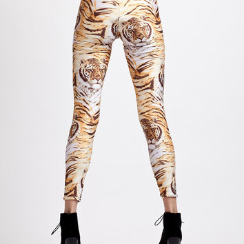 Meow Incredible Tiger Faces Super High Waisted Leggings